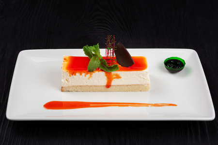 Cheesecake with sauce 写真素材