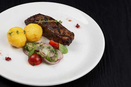 Grilled beef skirt steak