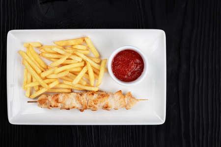 Grilled chicken shashlik meat 写真素材