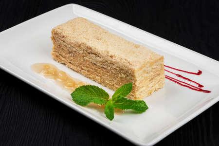 Esterhazy Torte on plate 写真素材
