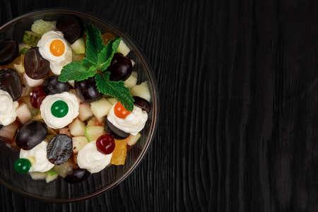 Healthy fresh fruit summer salad