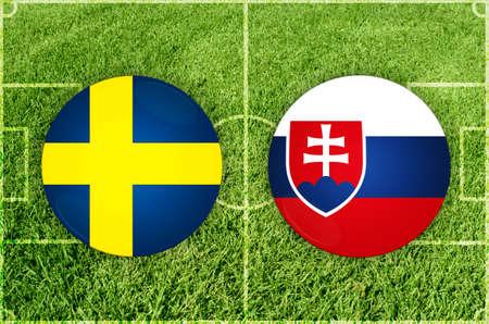 Sweden vs Slovakia football match
