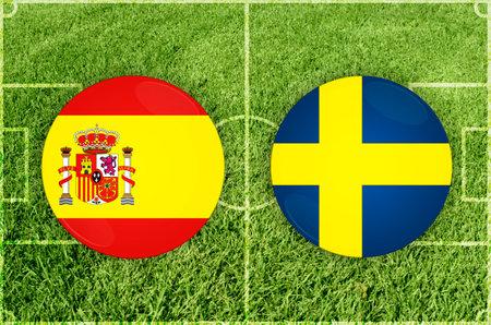 Spain vs Sweden football match