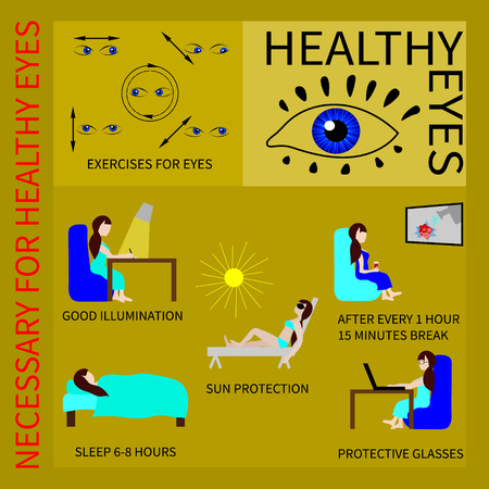safety glasses: Information about how to maintain and improve vision by exercises for the eyes, good lighting, safety glasses and other.
