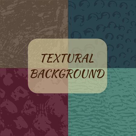 textured backgrounds: Set of 4 textured backgrounds - vector, EPS10