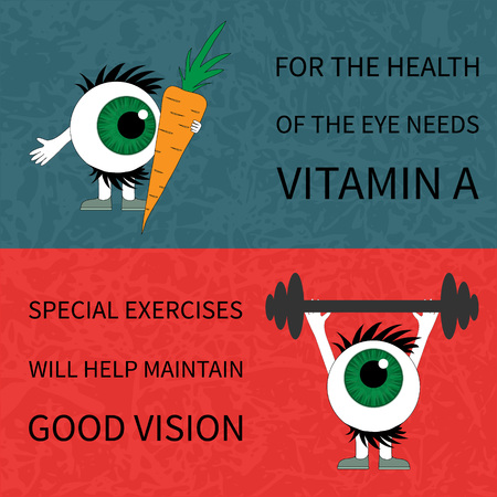certain: Healthy eyes. Information on what to save and prevention of view it is necessary to use certain products and doing gymnastics. Illustration