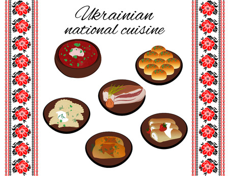 traditions: Ukrainian national cuisine. Folk traditions of Ukraine.