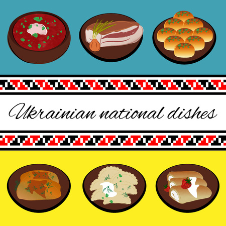 ukraine folk: Ukrainian national cuisine. Folk traditions of Ukraine.
