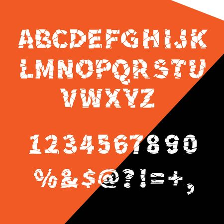 ragged: Vector alphabet ragged flat for creative use