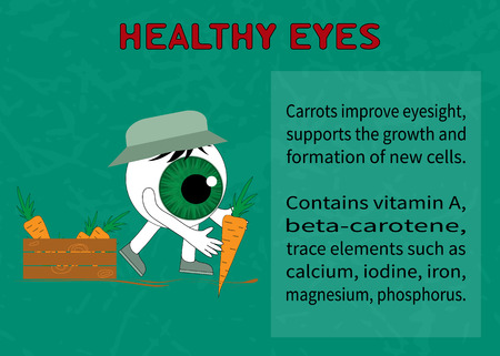 eyesight: Healthy eye. Information about the benefits of carrot for eyesight