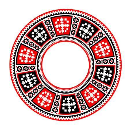 rushnyk: Ethnic motives. Circular pattern in traditional style - EPS8