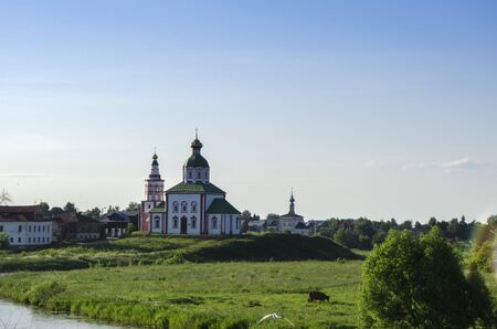 Church of Elijah the Prophet in Suzdal. Golden ring of Russia Stock Photo