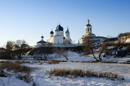 bogolyubovo: Holy Bogolyubovo monastery in winter Stock Photo