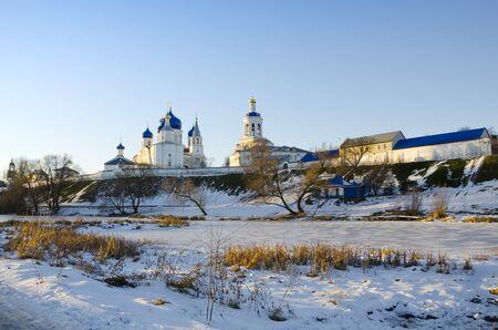 Holy Bogolyubovo monastery in winter Stock Photo