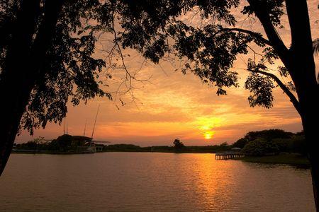 taman: taman tasik sunset