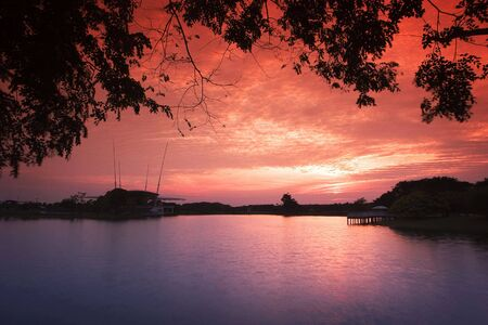 taman: taman tasik sunset II Stock Photo