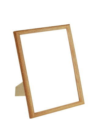 wooden picture frame  isolated on the white background Stock Photo