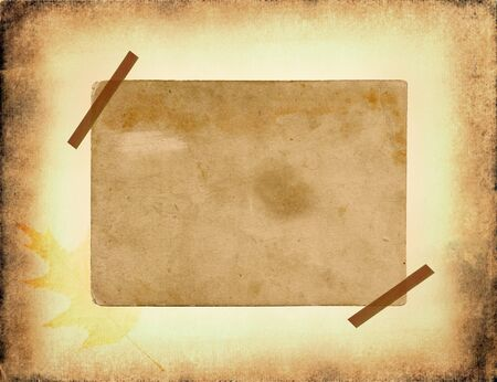 frame of the old paper