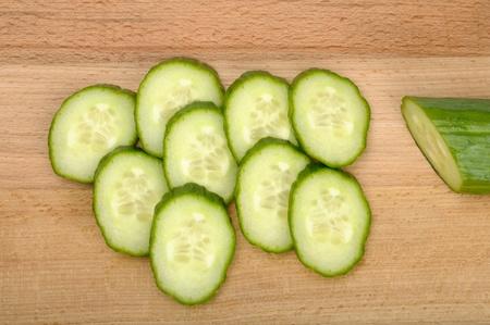 sliced cucumbers  Stock Photo