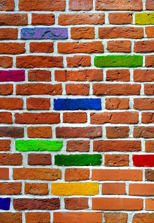 brick background: brick wall Stock Photo