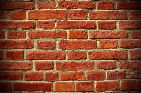 background of red bricks, vignetting