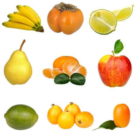 fruit set isolated on a white background photo