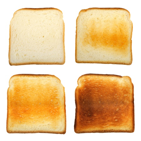 Set of toast isolated on a white background