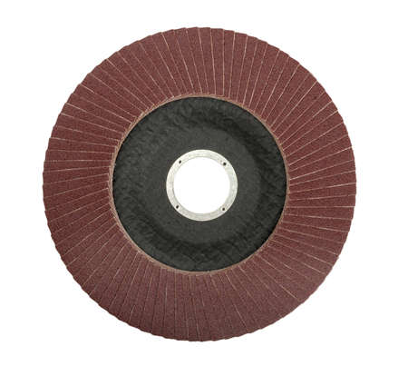 abrasive wheel isolated on a white background Stock Photo