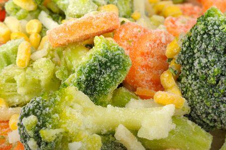 background of frozen vegetables