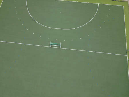 Hockey field and post seen from aerial view