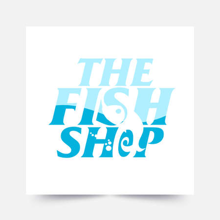 A cool and modern logo for a fishing company  イラスト・ベクター素材