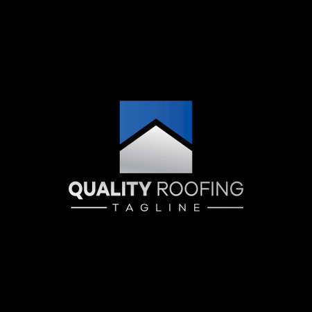 Simple and elegant logo for a roofing company....