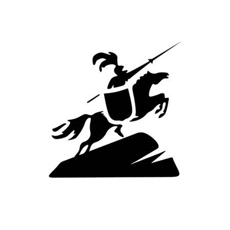 Simple and classic equestrian warrior symbol 1