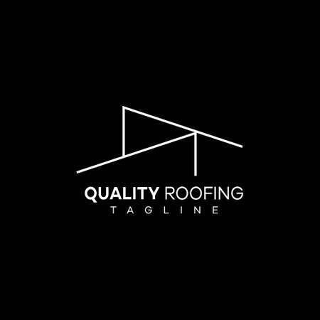 Simple and elegant logo for a roofing company..
