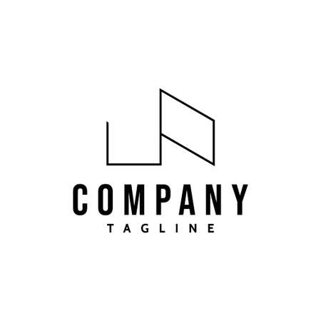 Simple and elegant logo for a roofing company.