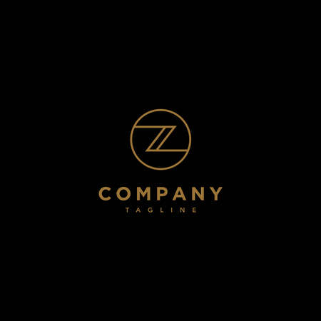 The Z letter initial logo is elegant and modern