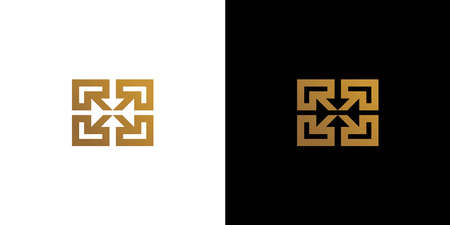 Modern and sophisticated R initials logo design