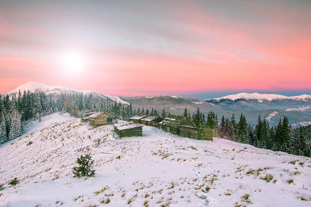 carpathian: winter Carpathian landscape Stock Photo