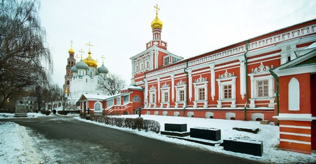 convent: Novodevichy Convent in Moscow on a cold winter day Stock Photo