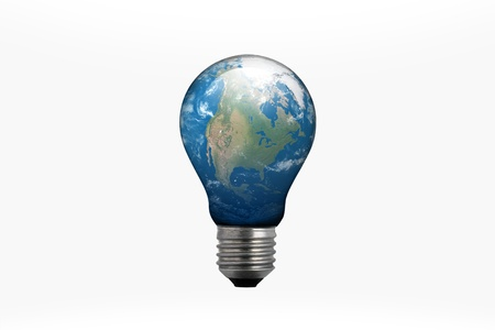 Land in the bulb. Stock Photo - 9159583
