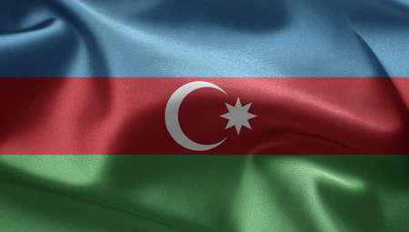azerbaijanian: Flag of Azerbaijan Stock Photo