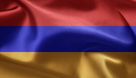 Waving flag of Armenia Stock Photo - 12093291