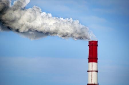 Plant pipe with smoke 版權商用圖片