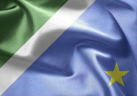 lia: Flag of Brazil (Mato Grosso do Sul) Stock Photo