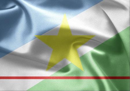 lia: Flag of Brazil (Roraima) Stock Photo