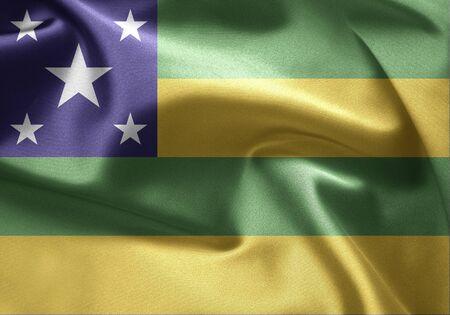 lia: Flag of Brazil (Sergipe) Stock Photo