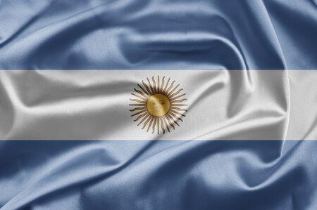 argentina flag: Flag of Argentina Stock Photo