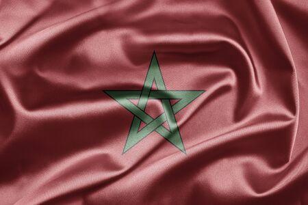 marocco: Flag of Morocco Stock Photo