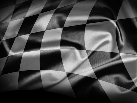 chequered flag: Checkered flag Stock Photo