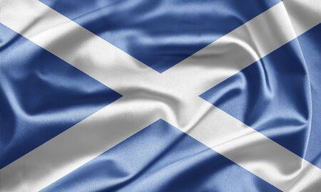 britan: Waving flag Scotland Stock Photo